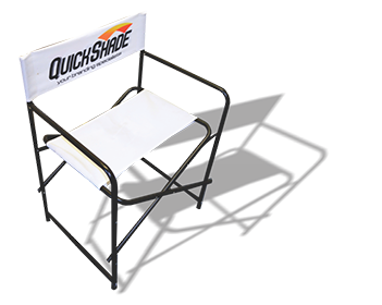 QuickShade branded directors chair